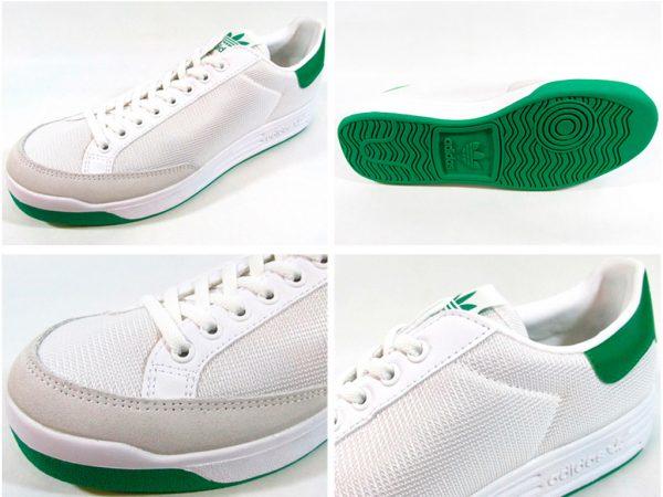 Zapatillas-Rod-Laver-verde-blanco mujer