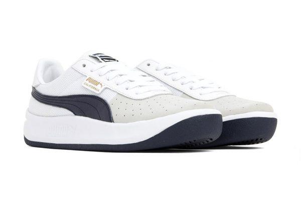 Tenis-Zapatillas California-Clasicas-Blanco Negro Azul