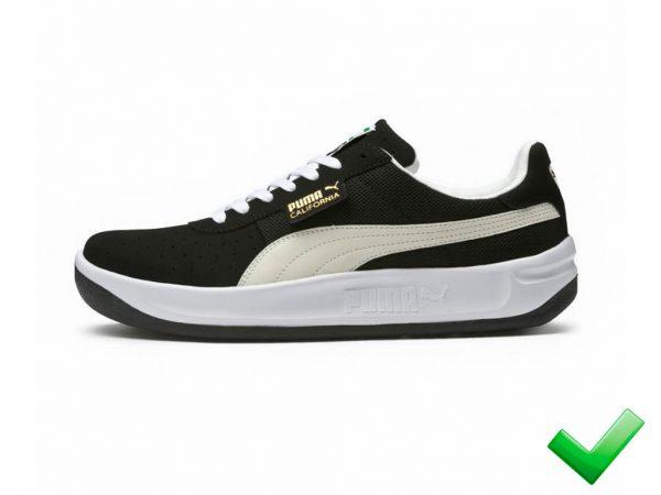 Zapatillas California-Negro-Clasicas-Retro-Hombre 80s 90s