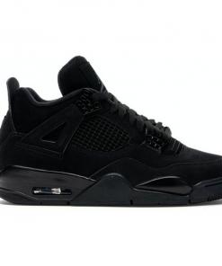 Air-Jordan-Retro-4-Negro-Total-Dark-Gamuza Mujer
